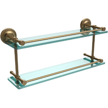 22'' Shelves with Brushed Bronze