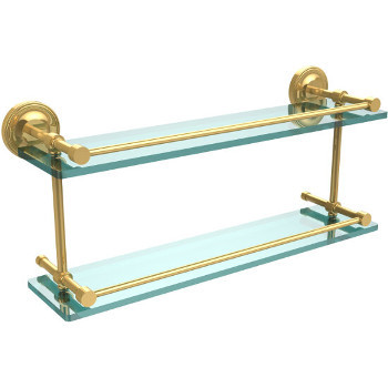22'' Shelves with Polished Brass