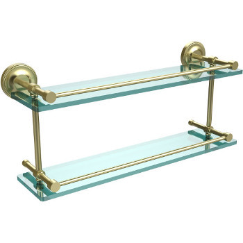 22'' Shelves with Satin Brass
