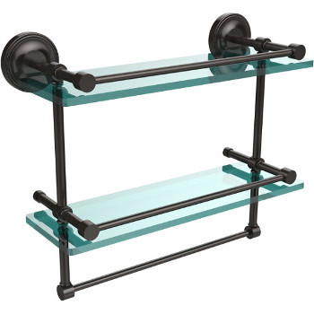 16'' Shelves with Oil Rubbed Bronze and Towel Bar