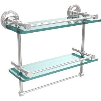 16'' Shelves with Polished Chrome and Towel Bar