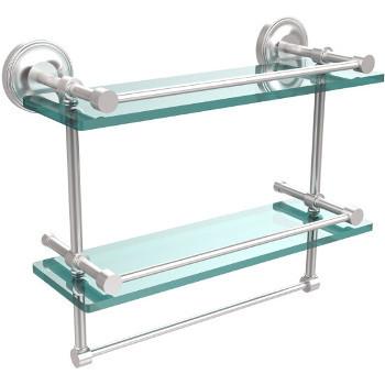 16'' Shelves with Satin Chrome and Towel Bar