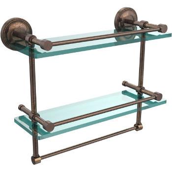 16'' Shelves with Venetian Bronze and Towel Bar