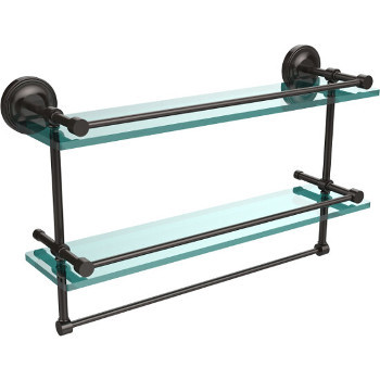 22'' Shelves with Oil Rubbed Bronze and Towel Bar