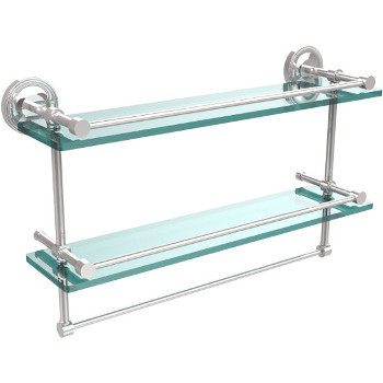 22'' Shelves with Polished Chrome and Towel Bar
