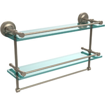 22'' Shelves with Pewter and Towel Bar