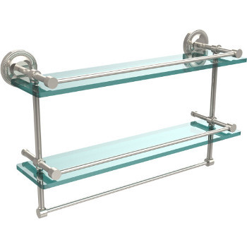 22'' Shelves with Polished Nickel and Towel Bar