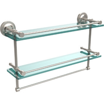 22'' Shelves with Satin Nickel and Towel Bar