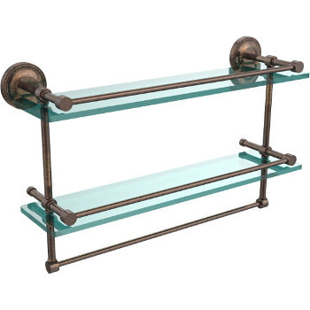 22'' Shelves with Venetian Bronze and Towel Bar