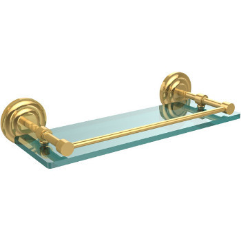 16'' Shelves with Polished Brass Hardware