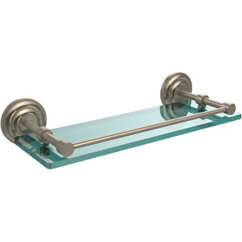 16'' Shelves with Pewter Hardware