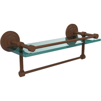 16'' Shelves with Antique Bronze and Towel Bar Hardware