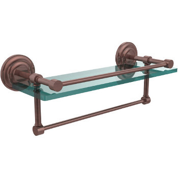 16'' Shelves with Antique Copper and Towel Bar Hardware