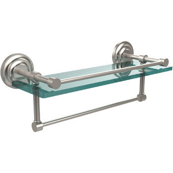 16'' Shelves with Satin Nickel and Towel Bar Hardware