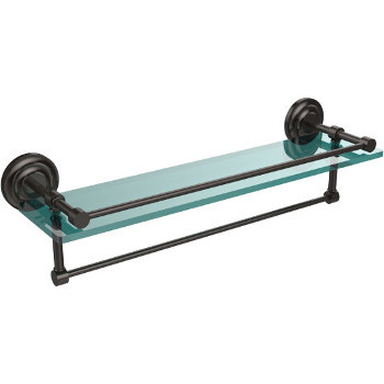 22'' Shelves with Oil Rubbed Bronze and Towel Bar Hardware
