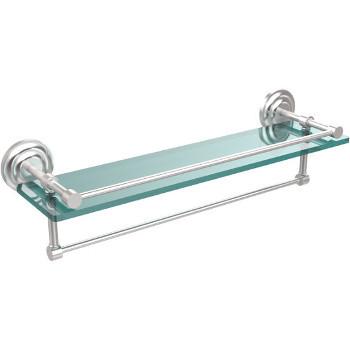 22'' Shelves with Satin Chrome and Towel Bar Hardware