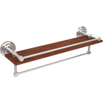 22'' Shelves with Polished Chrome and Towel Bar Hardware