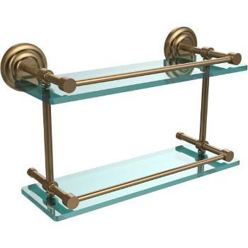 16'' Shelves with Brushed Bronze Hardware
