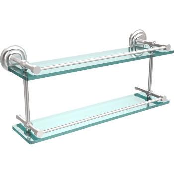 22'' Shelves with Satin Chrome Hardware