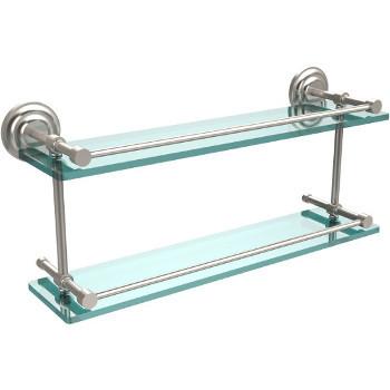 22'' Shelves with Satin Nickel Hardware