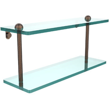 16'' Shelves with Venetian Bronze Hardware
