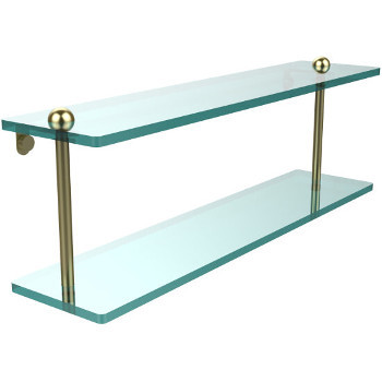 22'' Shelves with Satin Brass Hardware