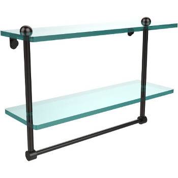 16'' Shelves with Oil Rubbed Bronze and Towel Bar Hardware