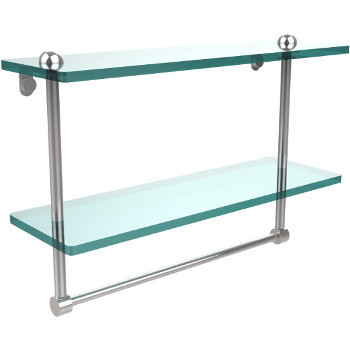 16'' Shelves with Polished Chrome and Towel Bar Hardware