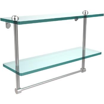16'' Shelves with Satin Chrome and Towel Bar Hardware