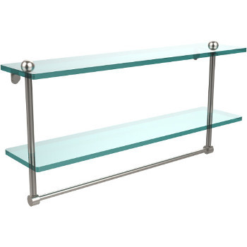 22'' Shelves with Satin Nickel and Towel Bar Hardware