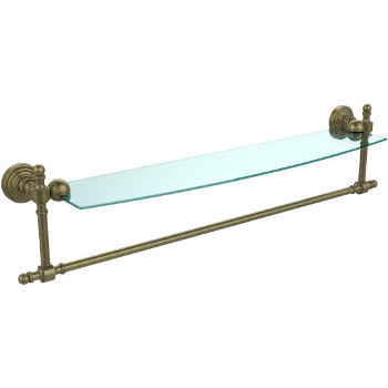 Bathroom Accessories Retro Wave Glass Shelves W Towel Bar Available In Standard Premium Finishes By Allied Brass Kitchensource Com