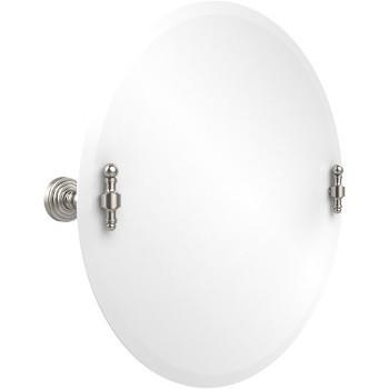 Circular Mirror with Satin Nickel Hardware