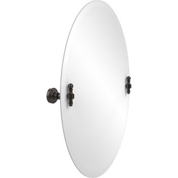 Oval Mirror with Oil Rubbed Bronze Hardware