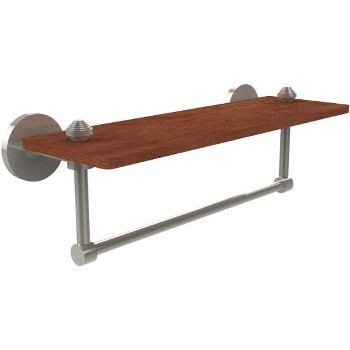 16'' Shelves with Polished Nickel and Towel Bar Hardware