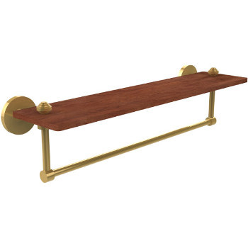 22'' Shelves with Unlacquered Brass and Towel Bar Hardware
