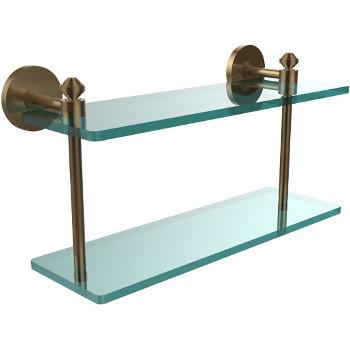 16'' Shelf with Brushed Bronze Hardware