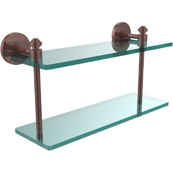 16'' Shelf with Antique Copper Hardware