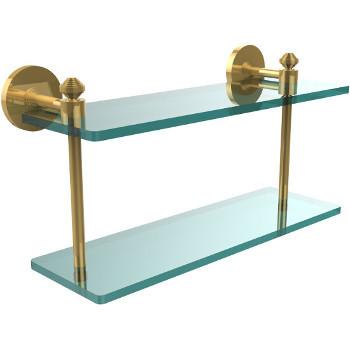 16'' Shelf with Polished Brass Hardware