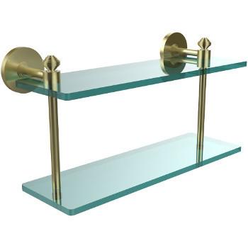 16'' Shelf with Satin Brass Hardware