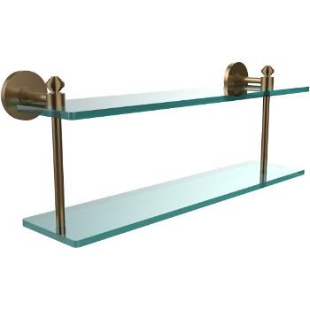 22'' Shelf with Brushed Bronze Hardware
