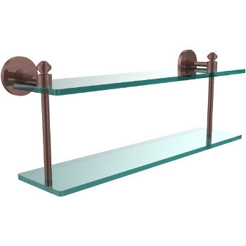 22'' Shelf with Antique Copper Hardware