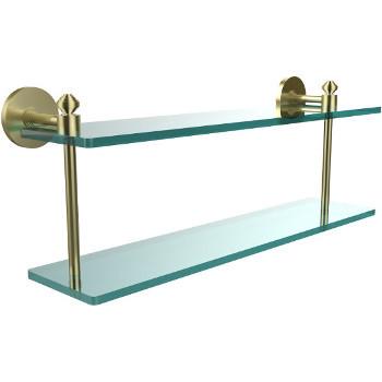 22'' Shelf with Satin Brass Hardware