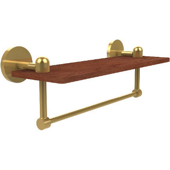 16'' Shelves with Unlacquered Brass and Towel Bar Hardware