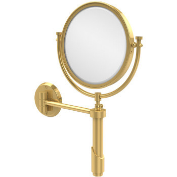4x Magnification, Polished Brass Mirror