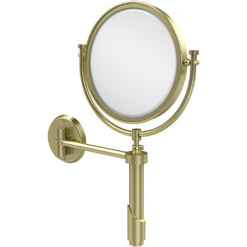 4x Magnification, Satin Brass Mirror
