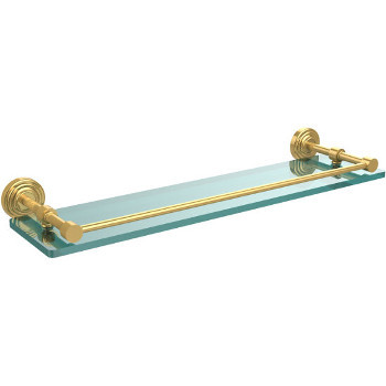 22'' Shelves with Polished Brass Hardware