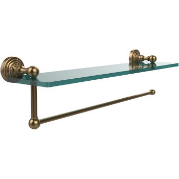 16'' Shelves with Brushed Bronze and Paper Towel Roll Holder Hardware