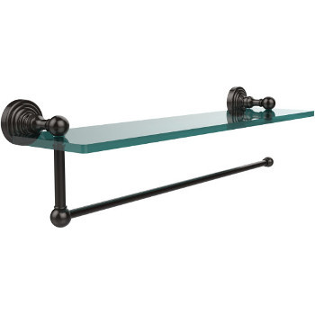 16'' Shelves with Oil Rubbed Bronze and Paper Towel Roll Holder Hardware