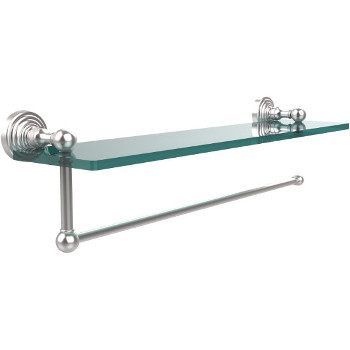16'' Shelves with Satin Chrome and Paper Towel Roll Holder Hardware