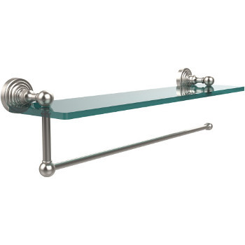 16'' Shelves with Satin Nickel and Paper Towel Roll Holder Hardware